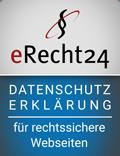 eRecht24 - Siegel - Datenschutz